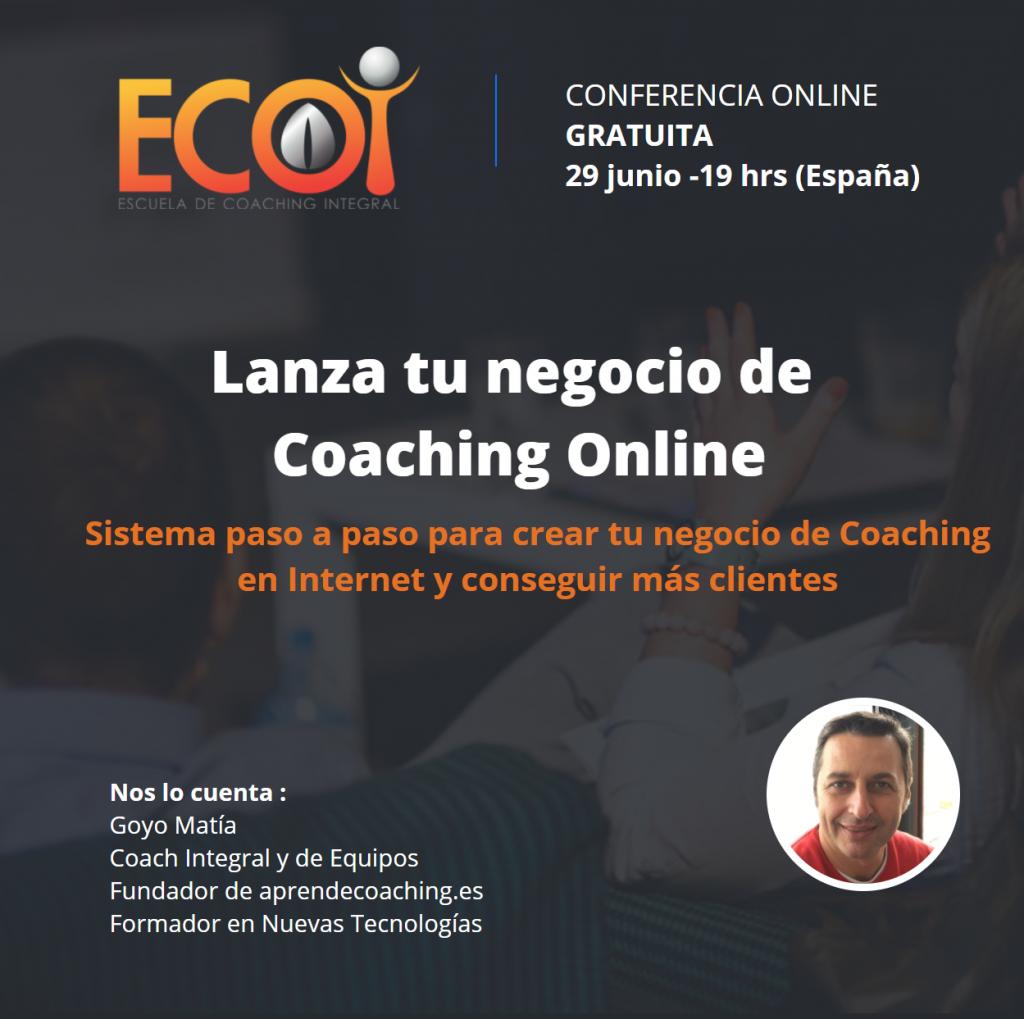 Crea tu negocio de oaching Online