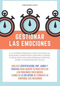 Taller de Coaching | Gestionar las Emociones @ Formación de Pago.